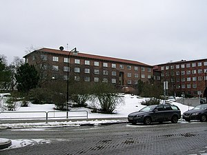 Military Archives of Sweden - The Military Archives building in winter