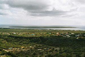 Kralendijk - View of Kralendijk and Klein Bonaire from Seru Largu.