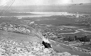 Krasnoyarsk - The panorama of Krasnoyarsk from the Karaulnaya Gora hill, 1910
