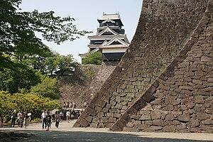 Stone wall - Stone wall of Kumamoto Castle