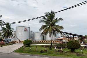 Sime Darby - Sime Darby palm oil storage tanks in Kunak, Sabah.