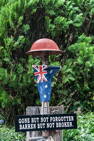 Kundasang - An Australian soldier memorial of Death Marches in Kundasang.