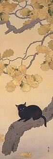 110px-Kuroki_Neko_by_Hishida_Shunso
