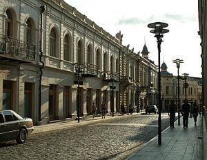 Kutaisi - A street in central Kutaisi