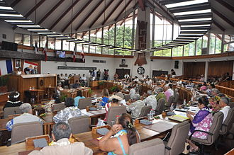 Assembly of French Polynesia - Image: L'hémicycle
