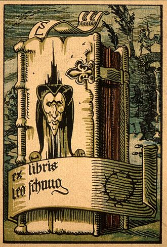 Léo Schnug - Bookplate, c.1900