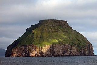 Lítla Dímun Island in Faroe Islands, Kingdom of Denmark