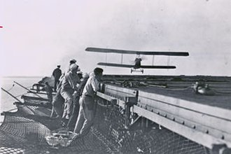 Godfrey Chevalier - Image: LCDR Godfrey Chevalier first landing aboard USS Langley (CV 1)