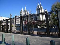 LDS temple square north gate slc utah