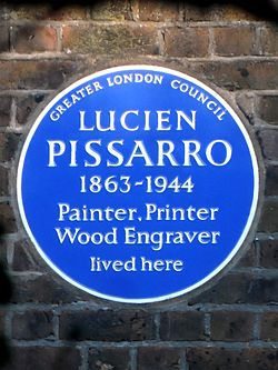 Lucien pissarro 1863 1944 painter printer wood engraver lived here