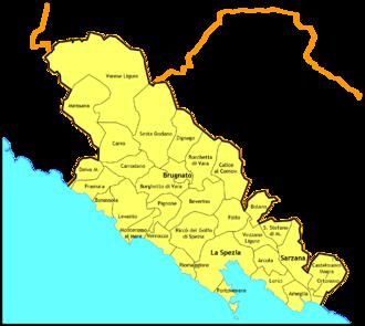 Roman Catholic Diocese of La Spezia-Sarzana-Brugnato - Image: La Spezia diocesi