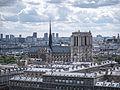 La Cathédrale Notre-Dame de Paris vue de la Tour Saint-Jacques, Paris août 2014.jpg