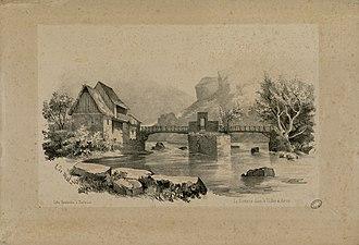 Val d'Aran - Garonne in Val d'Aran near 1840 by Eugène de Malbos.