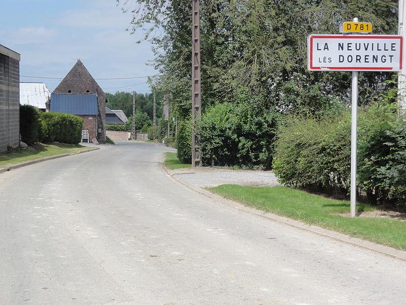 La Neuville-lès-Dorengt (Aisne) city limit sign