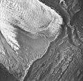 La Perouse Glacier, Dagelet Lobe terminus partially covered in rocks, September 16, 1966 (GLACIERS 5555).jpg