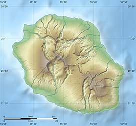 Piton  la Fournaise is located in Réunion