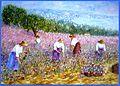 La cueillette des oeillets à Nice autrefois 65x46 2014.JPG