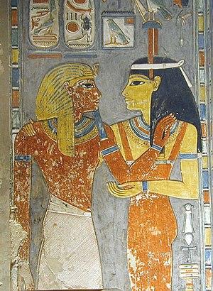 Imentet - Imentet greeting Pharaoh Horemheb in his tomb