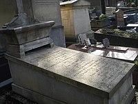 La tombe de la compositrice Mélanie BONIS dite Mel BONIS, cimetière de Montmartre.JPG