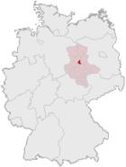 Situo de Magdeburg en Germanio