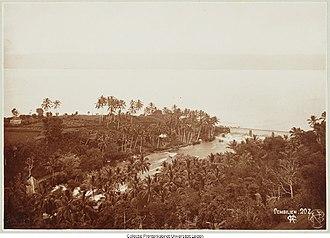 Lake Singkarak - Lake Singkarak and the Ombilin river circa 1900