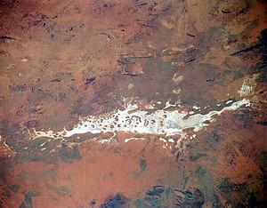 Космічний знімок озера листопад 2004