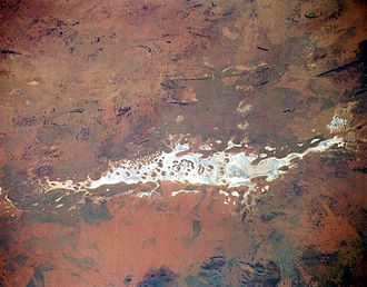 Lake Amadeus - From space (November 1994)