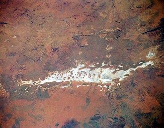 Amadeus Basin - from space (November 1994)