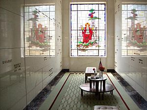 Lakewood Cemetery - Stained glass window in one of the Mausoleum rooms