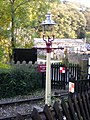 Lampstandard at Damems station - geograph.org.uk - 835813.jpg