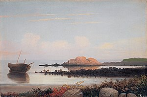 Fitz Henry Lane - Brace's Rock, Eastern Point, Gloucester, c. 1864