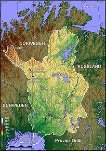 Lappland Karte.Lappland Finnland Wikipedia