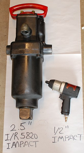 "Impact wrench - Large 2½"" Drive Ingersoll Rand impact vs regular ½"" impact wrench."