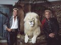 Las Vegas, Nevada's headlining illusionists Siegfried & Roy (Siegried Fischbacher and Roy Horn) in their private apartment at the Mirage Hotel on the Vegas Strip, along with one of their LCCN2011634018.tif