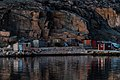 Last light of the day on shacks in Govik 2.jpg