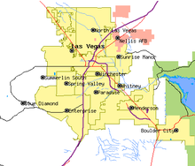 North Las Vegas Map Boundaries.Las Vegas Valley Wikipedia