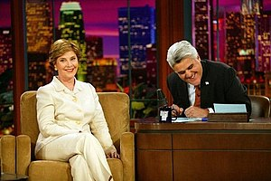 Laura Bush makes an appearance on The Tonight ...