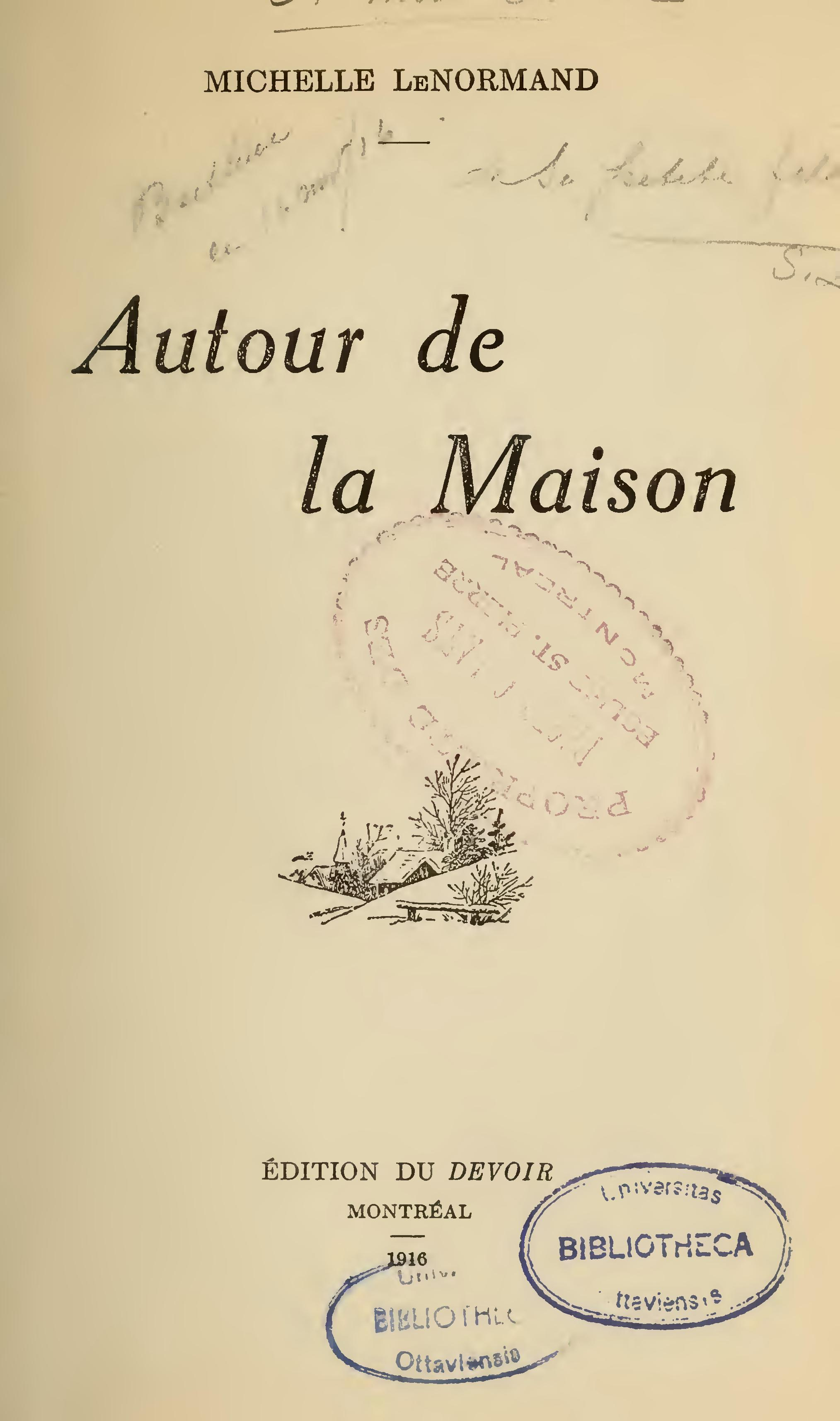 File lenormand autour de la maison for Autour de la maison rose