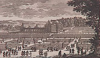 Château du Raincy - A 17th-century view of the Château and gardens, engraved by a member of the Perelle family
