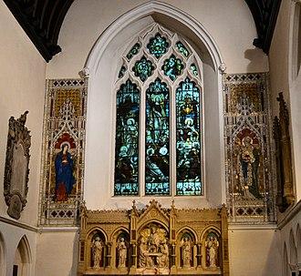 Church of St Mary & St Nicholas, Leatherhead - Image: Leatherhead, St Mary & St Nicholas, The Sanctuary