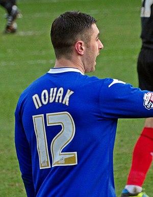 Lee Novak - Novak playing for Birmingham City in 2014