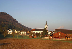 Vue du village de Leibstadt.