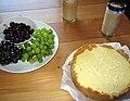 Lemon rosemary cheesecake (8996480063).jpg