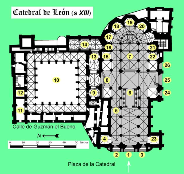 Catedral de León, Planta