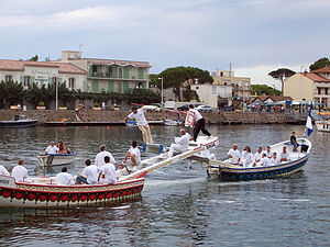 Water jousting - Jousting on the Hérault river in Agde