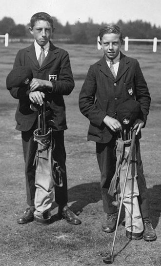 Henry Cotton (golfer) - Image: Leslie and Henry Cotton 1921