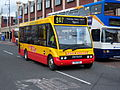 Leven Valley Coaches bus 111 Optare Solo T111 PDC in Stockton 5 May 2009.JPG