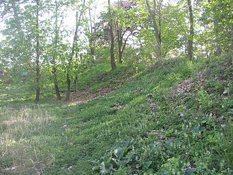 Levý Hradec - Remains of inner fortification line.