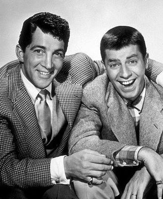 Straight man - Martin and Lewis featured Dean Martin (left) as the smooth, debonair straight man and Jerry Lewis as the wild, oafish comic.