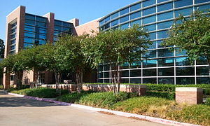 Lewisville, Texas - Front of the Lewisville Public Library building, which opened in 2006